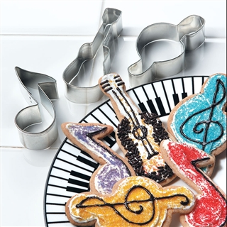 Music Motif Cookie Cutters At The Music Stand