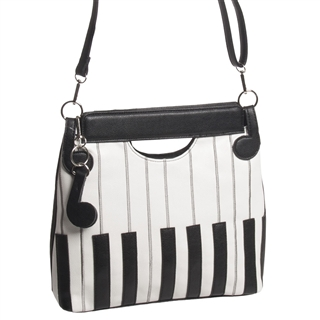 Piano Keys A Line Purse At The Music Stand