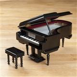 Black Grand Piano Music Box, Plays Fur Elise