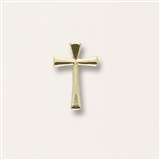 Flared Cross Gold Pin