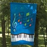 Music & Keyboard Garden Flag