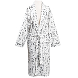Women's Flannel Music Motif Robe