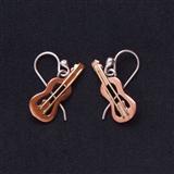 Copper Guitar Earrings