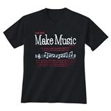God Said Make Music Black T-Shirt