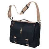 Black and Khaki Expandable Messenger Bag