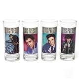 1968 Elvis Presley Glasses, Set of 4
