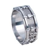 White Bronze Drum Ring