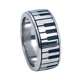 White Bronze Keyboard Ring