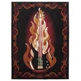 Fiery Bass on Black Rug