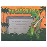 Musicsaurus Recognition Certificates, Set of 25
