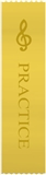G-Clef Yellow 'Practice' Ribbons, Set of 10