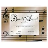 Band Award Certificates, Set of 10