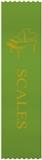 Green Piano 'Scales' Ribbons, Set of 10