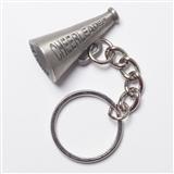 Cheerleader Megaphone Pewter Keychain