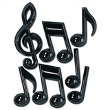 Big Three-Dimensional Music Symbol Decorations