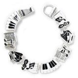 Black & White Music Charms Bracelet