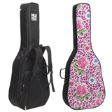 Floral Cheetah Interchangeable Face Guitar Bag