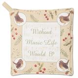 Without Music Life Would B Flat Potholder