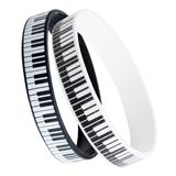 Silicone Keyboard Bracelets, Set of 2