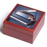 Tile-Top Wood Keepsake Box