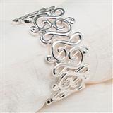 G-Clef Links Stretch Bracelet