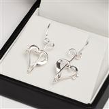 Silver Heart of Clefs Earrings