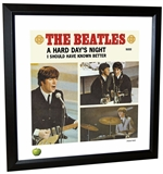 Beatles 'A Hard Day's Night' Single Framed Lithograph