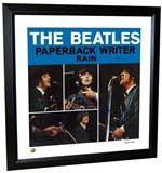 Beatles 'Paperback Writer' Single Framed Lithograph