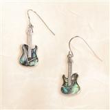 Abalone Guitar Earrings