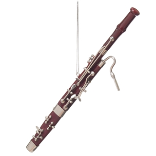 Bassoon Ornament At The Music Stand